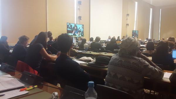 Der Saal Ist Voll Als Kim Trau Für Die BVT* Die Rede In Der UN Hält.