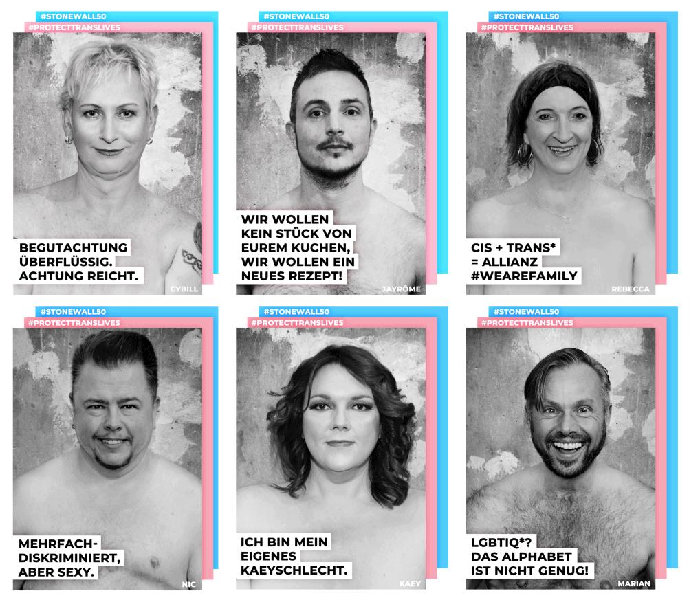 Plakataktion 50 Jahre Nach Stonewall – Selbstbestimmungsrecht Von Trans* Personen Endlich Anerkennen!